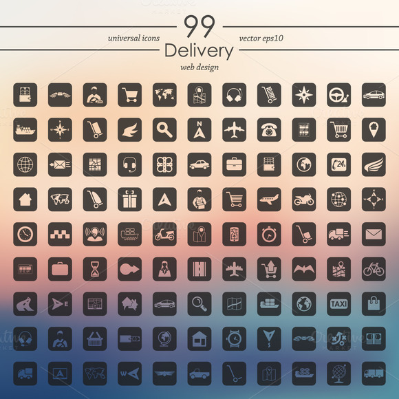 99 Delivery Icons