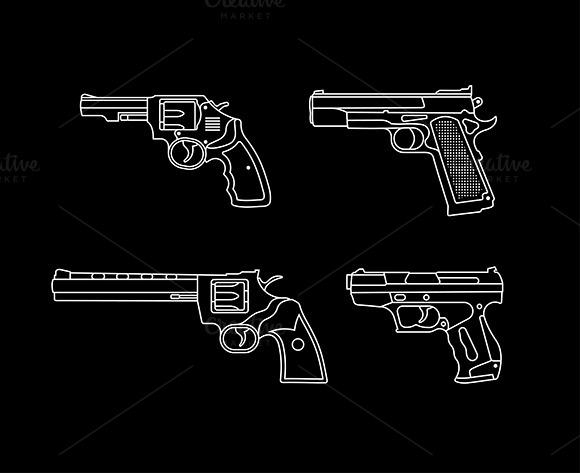 Handgun Outline