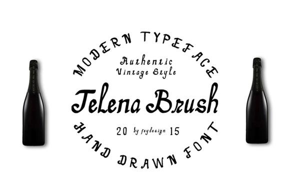 Telena Brush Modern Typeface