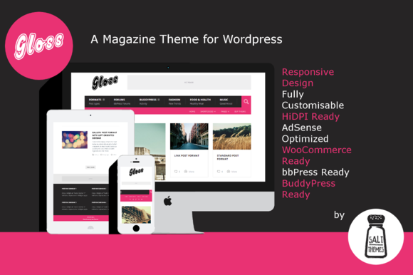 Gloss Responsive Magazine Theme