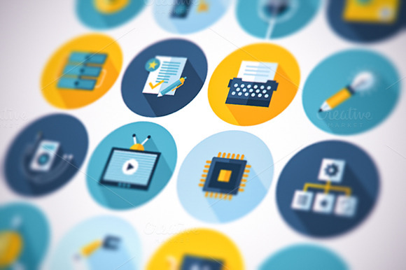 Flat Business Icons Set