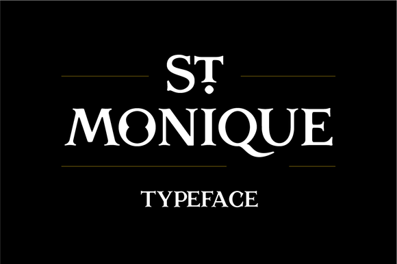 St Monique Typeface
