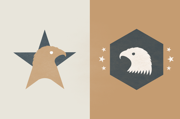 Logo Template American Eagle Star