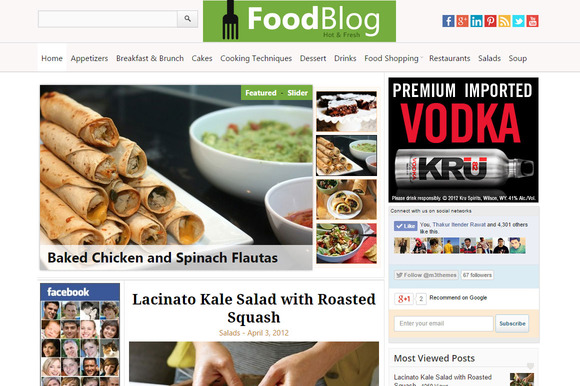 FoodBlog Food Recipe WP Theme