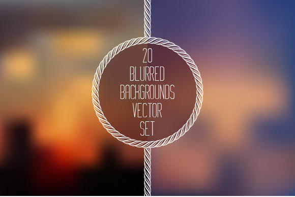 20 Blurred Background Vector Set