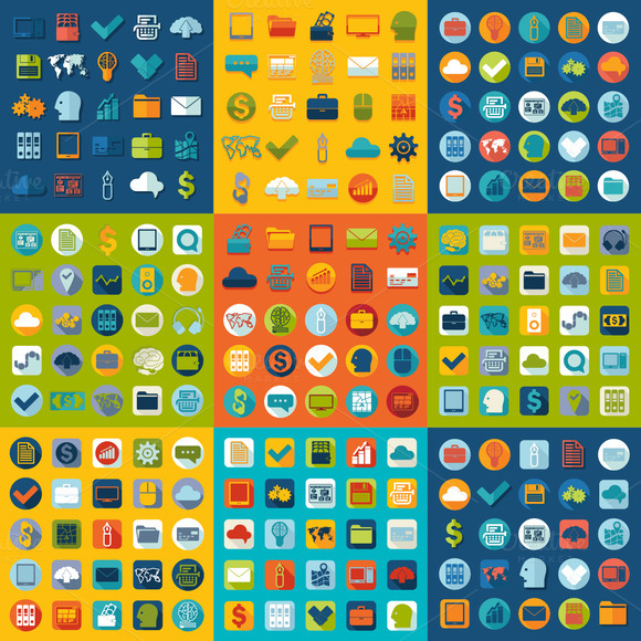 9 BUSINESS Sets Of Icons