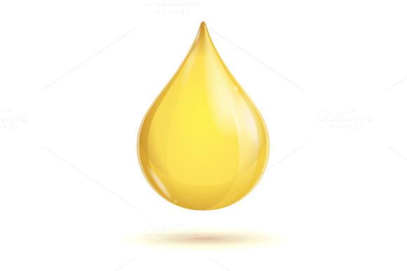 Vector Oil Transparent Drop