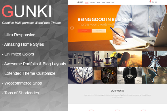 Gunki Multipurpose WordPress Theme