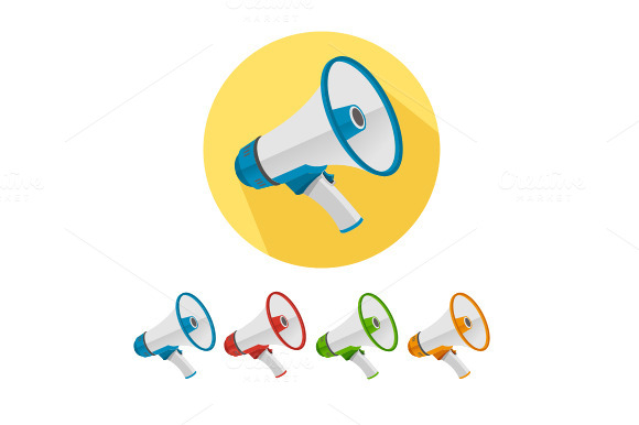 Vector Megaphone Icons Set