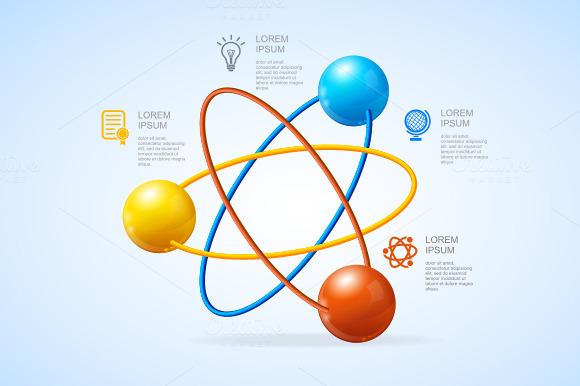 Vector Atom Infografic