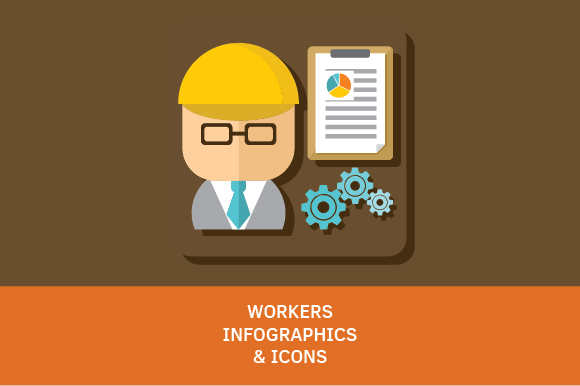 Workers Icons Infographics