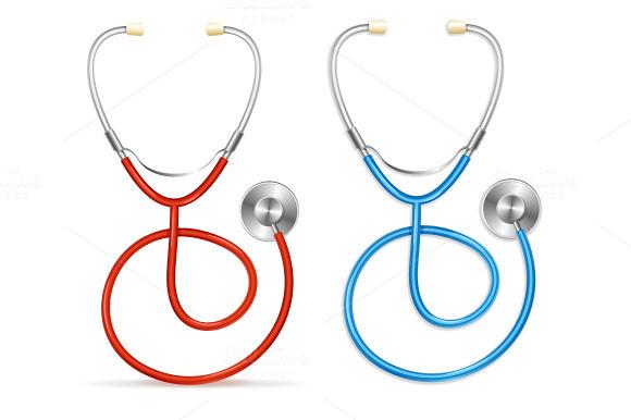 Vector Stethoscope Set