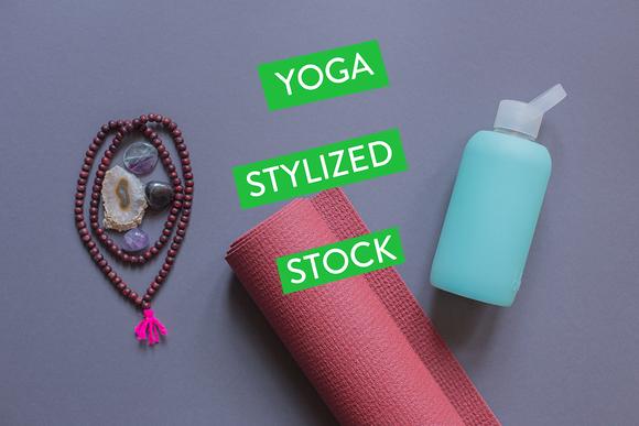 Savasana Styled Stock Yoga