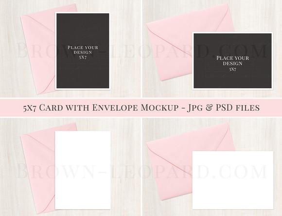 5x7 Card Envelope Mockup Jpg Psd