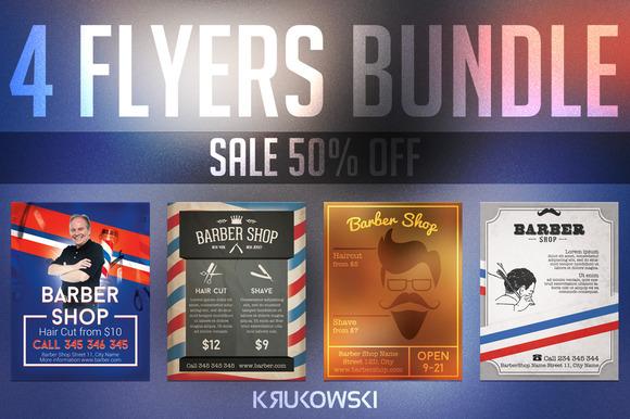 Barber Shop Flyers Bundle