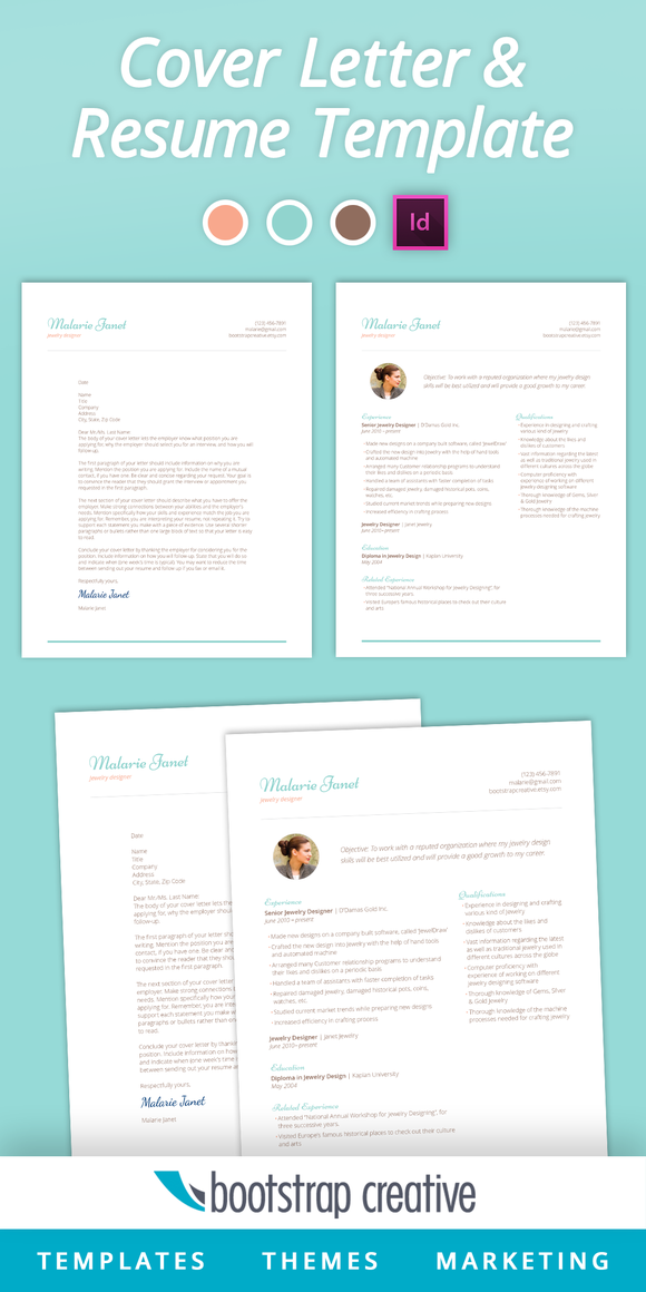 InDesign Resume Template Crafted