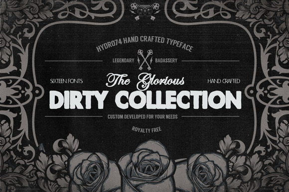The Dirty Collection 16 Fonts
