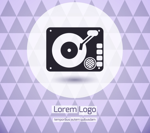 Disk Jockey Vinyl Turntable Logo