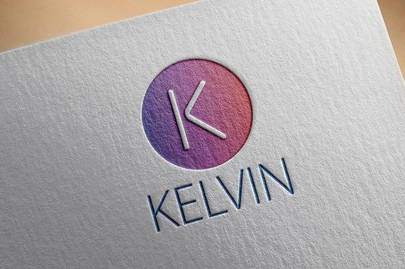 Kelvin K Letter Logo