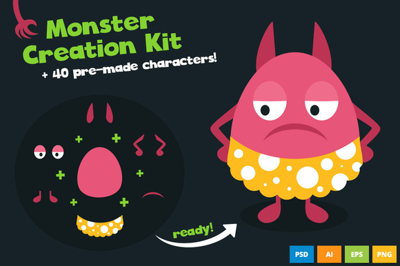 Monster Creation Kit With Large Pack