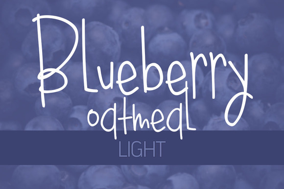 Blueberry Oatmeal Light