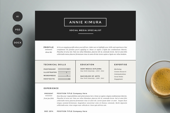 Resume Template 4 Pack CV Template