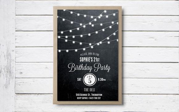 Birthday Invitation Edison Globe