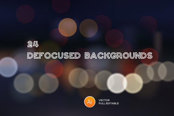 24 Vector Defocused Backgrounds