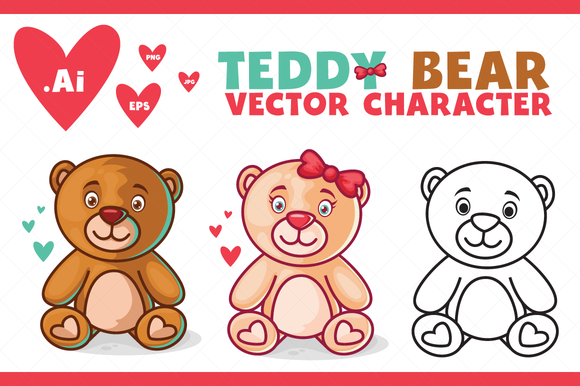 Teddy Bear Character