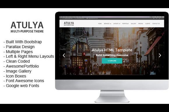 Atulya Multipurpose Parallax HTML