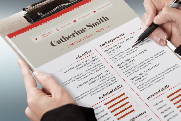 Charted Modern Resume Template