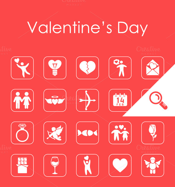 20 Valentine S Day Simple Icons