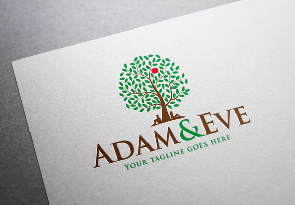 Adam And Eve Logo Template