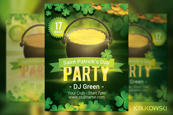 Saint Patrick S Day Party Flyer