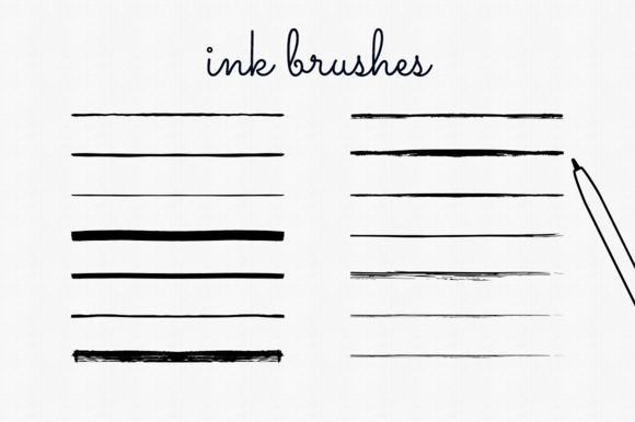Handdrawn Ink Brushes