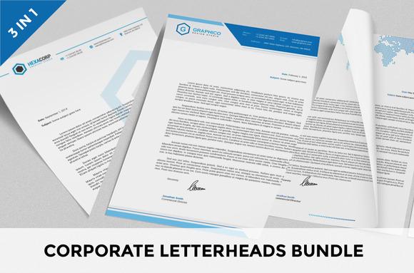 Corporate Letterheads Bundle Vol.1