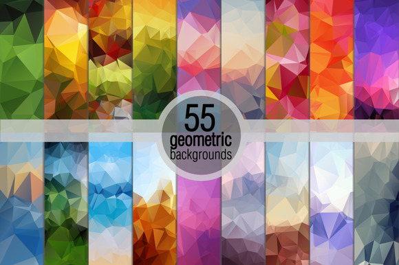 55 Geometric Backgrounds