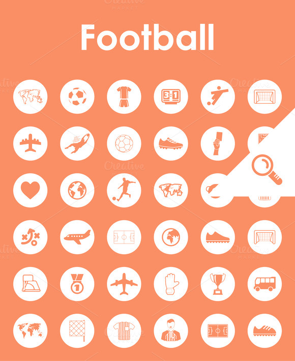 36 FOOTBALL Simple Icons