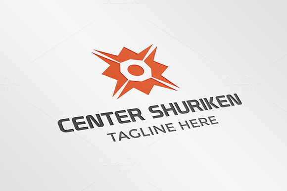 Center Shuriken Logo Template