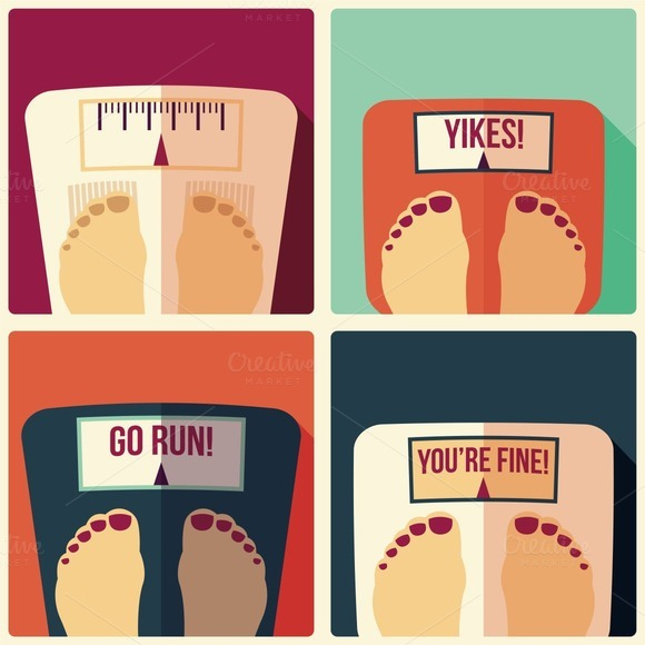 Weight Scales Flat Design
