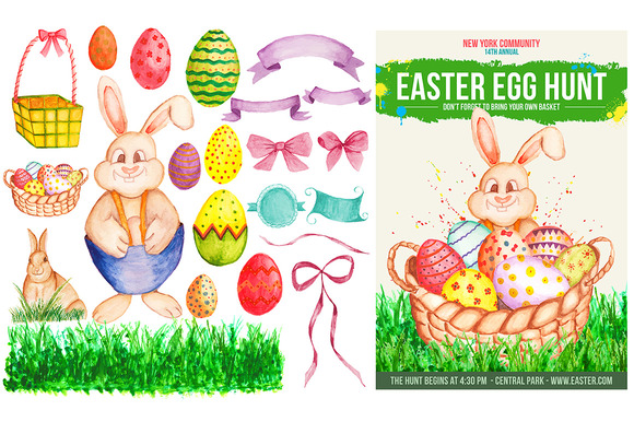 Watercolor Easter Flyer Designs