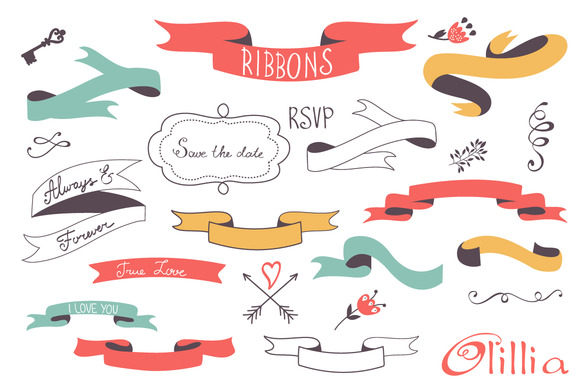 Ribbons And Frames Clipart