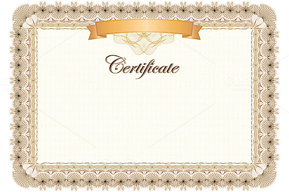 Certificate Classic Style