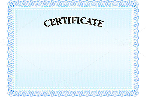Certificate Modern Blue