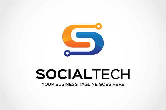 Social Tech Logo Template
