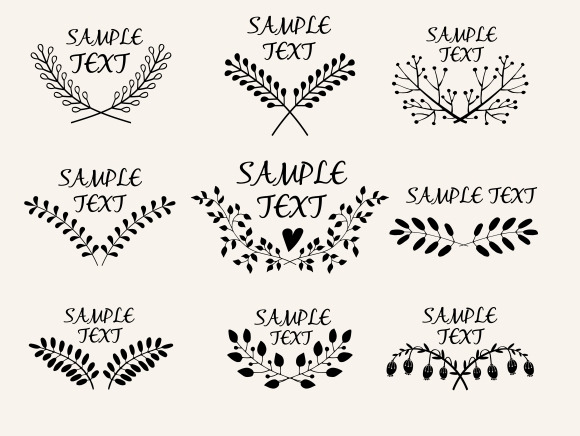 Hand Drawn Floral Symmetric Graphics