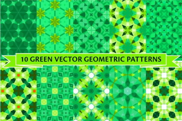 Set Of Ten Green Patterns