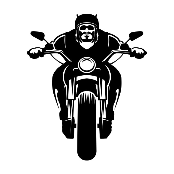 Biker Icon Man On A Motorcycle