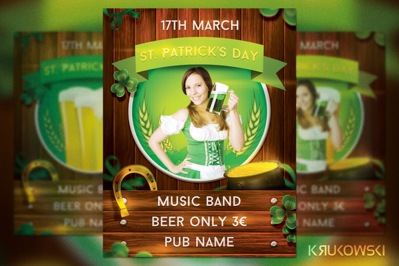 St Patricks Day Pub Flyer