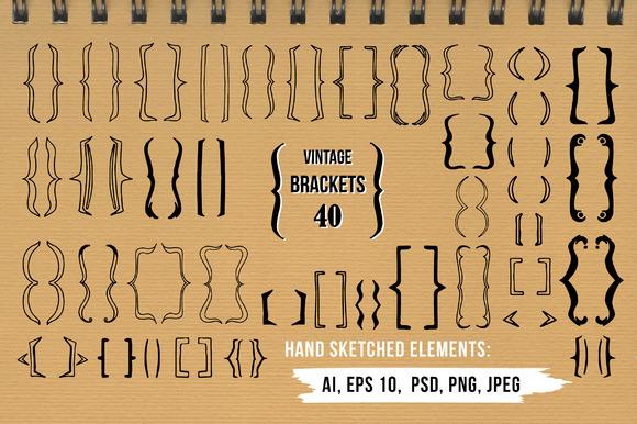 Vintage Brackets Pack 40 Bonus